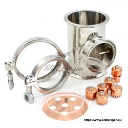 """Bubble Section with Thermowell for 4"""" Dash SG"""