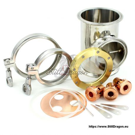 """Bubble Section with Thermowell for 4"""" Dash Pro SGK"""