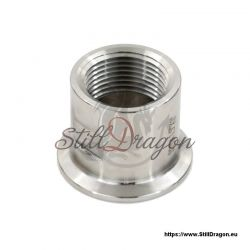 "1.5"" Tri-Clamp to 1"" Female Pipe Thread Adapter"