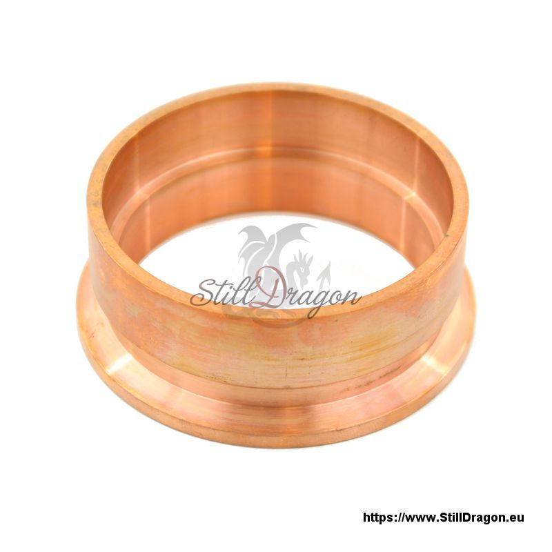 Inch tri clamp ez flange made of copper milled