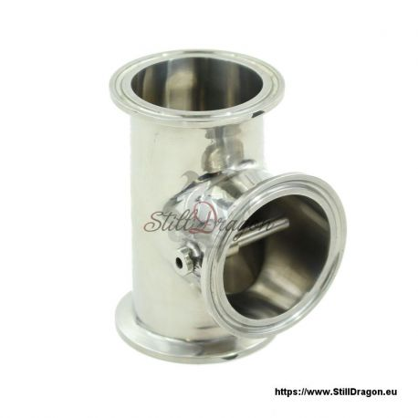 """2"""" x 2"""" x 2"""" Tri-Clamp Tee with Thermowell"""