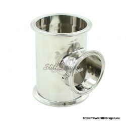 """4"""" x 4"""" x 3"""" Tri-Clamp Tee with Thermowell"""