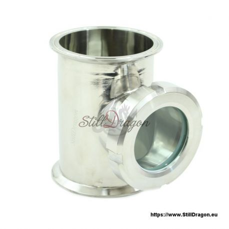 """4"""" x 4"""" x 3"""" Tri-Clamp Tee with Screw-On Sight Glass"""